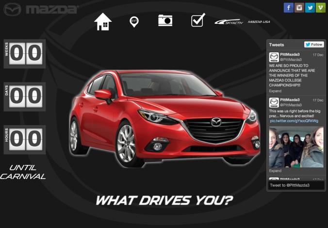 Marketing website for Mazda USA