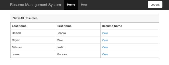 Resume and Portfolio Management System