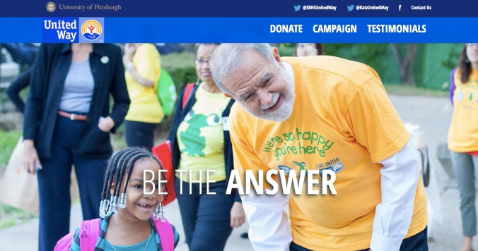 University of Pittsburgh United Way Campaign (Designed by iSchool Students)