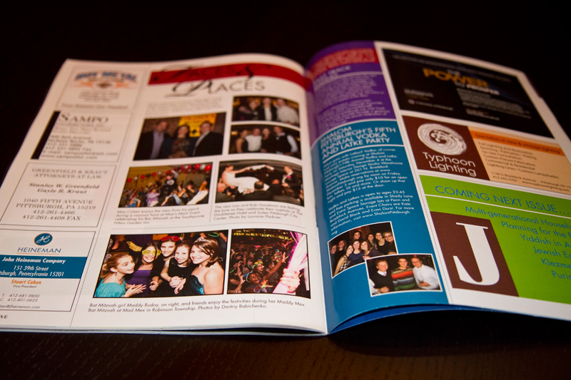 Published in a magazine - Pittsburgh Jewish Living | Dmitriy Babichenko - Pittsburgh Bar Mitzvah Photographer