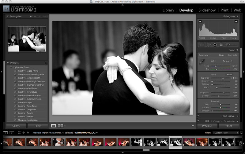 Editing in Adobe Bridge | Dmitriy Babichenko, Pittsburgh Wedding, Event & Bar/Bat Mitzvah Photographer